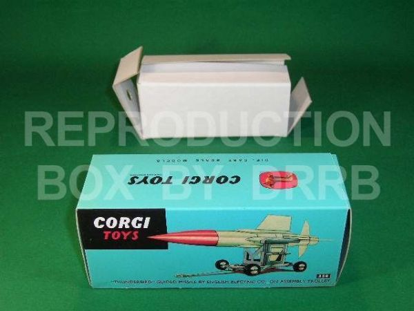Corgi #350 Thunderbird Guided Missile - Reproduction Box
